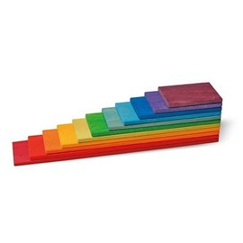 Grimms Rainbow Wooden Building Boards by Grimms