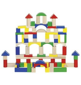 Goki 100-Piece Set of Building Blocks/Bricks in Storage Tub