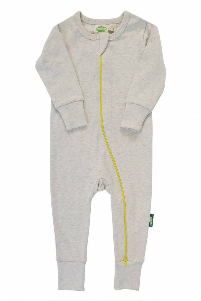 44a5d67a638 Long Sleeve Organic Cotton Rompers Solid by Parade - Abby Sprouts ...