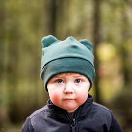 Organic Merino Bear Hat