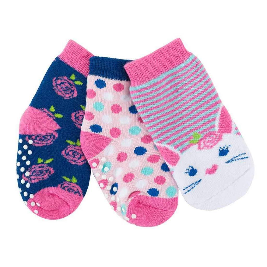 Zoocchini 3-Pack Grip + Easy Comfort Terry Sock Set