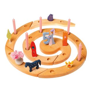 Grimms Birthday and Advent Spiral, Natural