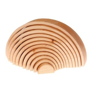 Grimms Natural Wooden Stacking Tunnel - Large