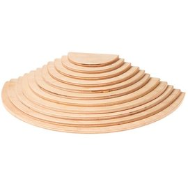 Grimms Large Semicircles, Natural (11 Pieces)