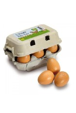 Erzi Half Dozen Brown Eggs in Carton