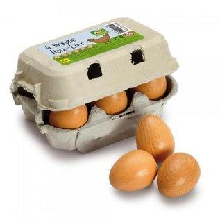 Erzi Half Dozen Brown Eggs in Carton