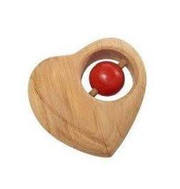 Gluckskafer Wooden Heart Shaped Rattle by Gluckskafer