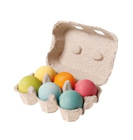 Grimms 6 Wooden Balls (Pastel Colours) by Grimms