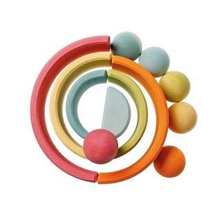Grimms 6 Wooden Balls (Pastel Colours) by Grimms