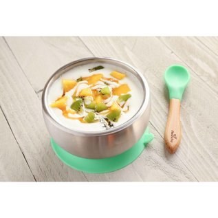 Avanchy Stainless Steel Baby Suction Bowl with Airtight Lid