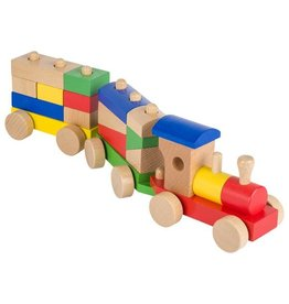 Goki Building Block Wooden Train Toy