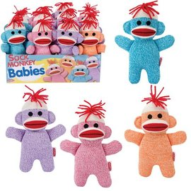 Schylling Sock Monkey Baby Stuffed Toy for All Ages