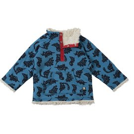 Frugi Little Kids Snuggle Fleece Organic Cotton Sweater by Frugi