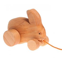 Grimms Bobbing Rabbit Wooden Pull Along Toy by Grimms