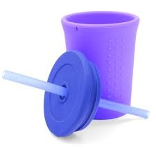 Silikids Silicone Reusable 12oz Straw Cup
