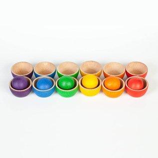 Grapat Wood Coloured Balls & Bowls by Grapat