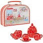 Moulin Roty Red Ceramic Tea Set in Case by Moulin Roty
