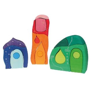 Grimms Wooden Fairy Tale Village Blocks by Grimms