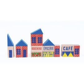 Moulin Roty Mini Town Wooden Blocks