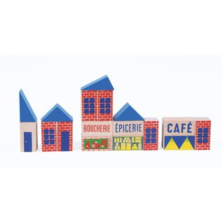 Moulin Roty Mini Town Wooden Blocks