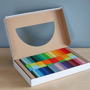 Grimms Colour Charts Rally Wooden Blocks by Grimms
