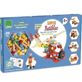 Vilac My Super Wooden Construction Set - Super Batibloc
