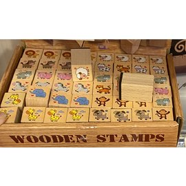 Goki Assorted Wooden Rubber Stamps