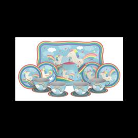 Schylling Unicorn Tin Tea Set (15 Piece) by Schylling