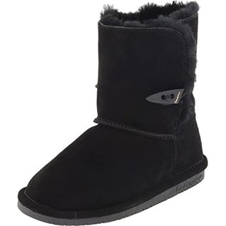 Abigail Style with Button Closure Sheepskin Lined Boots