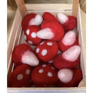 Papoose Wool Felt Toadstools