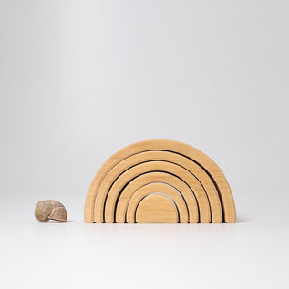 Grimms Medium Natural Wood Rainbow Shaped Stacking Toy by Grimms