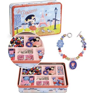 Vilac Wooden Beads (Paris Themed) in Metal Box