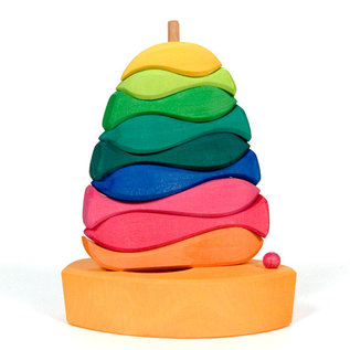 Gluckskafer Wooden Fish Stacking Toy 12-Piece by Gluckskafer