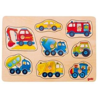 Goki Wooden Peg Puzzles by Goki (Assorted) ~