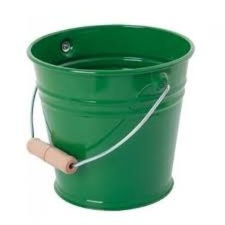 Gluckskafer High Quality Metal Bucket with Wooden Handle by Gluckskafer