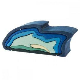 Gluckskafer Dolphin Wooden Puzzle Toy by Gluckskafer