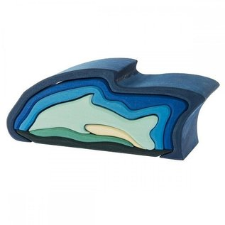 Gluckskafer Dolphin Wooden Puzzle Toy by Gluckskafer