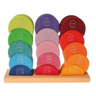 Grimms Piling Moon Houses (16 Pieces) by Grimms