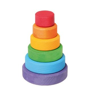 Grimms Small Conical Wooden Stacking Tower by Grimms