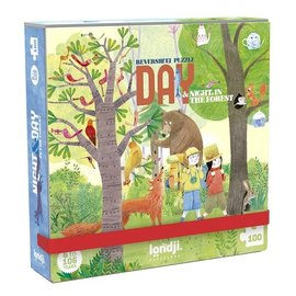 Londji Day & Night in the Forest Reversible Puzzle 100 Piece by Londji (Pocket)