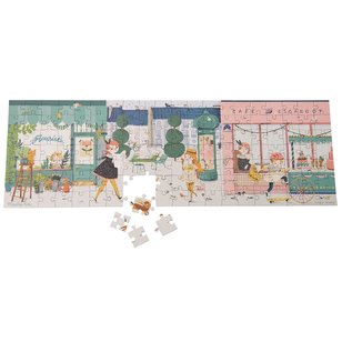 Moulin Roty Parisiennes in the Street Puzzle 140 Piece by Moulin Roty