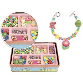 Vilac wooden Beads (Garden Theme) in Metal Box