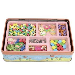 Vilac wooden Beads (Garden Theme) in Metal Box