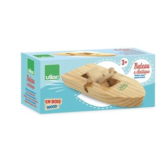 Vilac Rubber Band Powered Wooden Boat