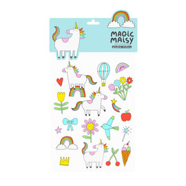 Rainbow and Unicorn Window Stickers by Magic Maisy