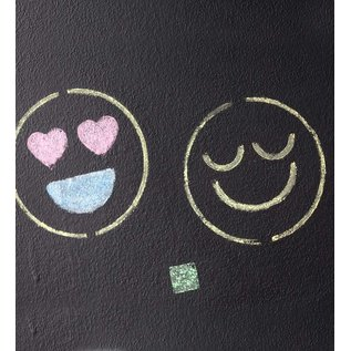 Hearthsong Emoji Stencils and Chalk Kit by Chalkscapes