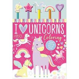 Make Believe Ideas I Love Unicorns Colouring Pad & 5 Pencils
