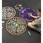 Hearthsong ChalkScapes Mandalas Sidewalk Stencils Chalk Art Kit - Stars and Geometry