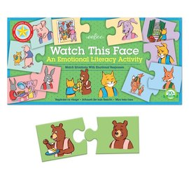 Eeboo Watch this Face - Emotional Literacy Puzzle Pairs
