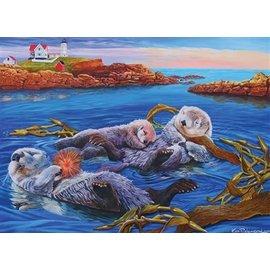 Cobble Hill Sea Otter 350 Piece Family Puzzle